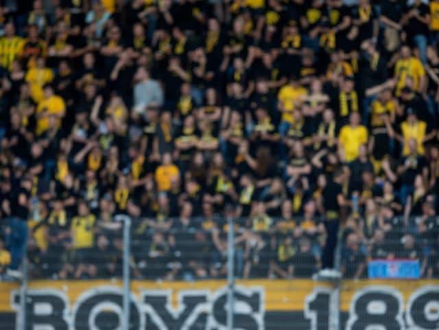 Fans im Stadion.