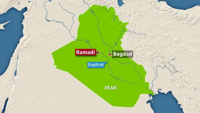 Karte Iraks.