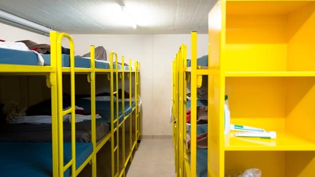 Betten in einer Zivilschutzanlage