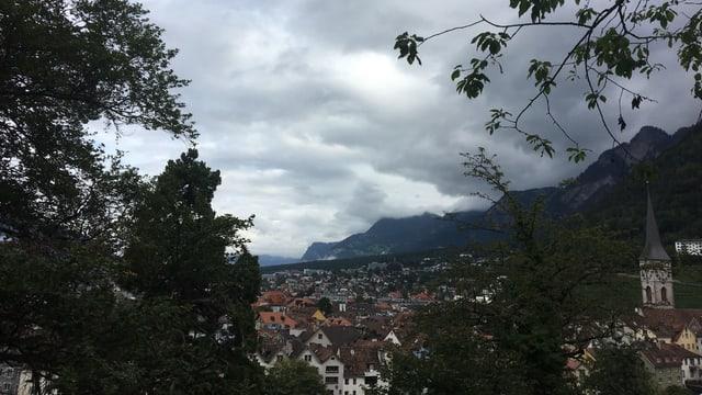 Blick auf die Churer Altstadt.