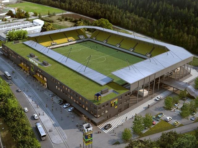 Ungefähr so - allerdings etwas kleiner - soll das Stadion aussehen.