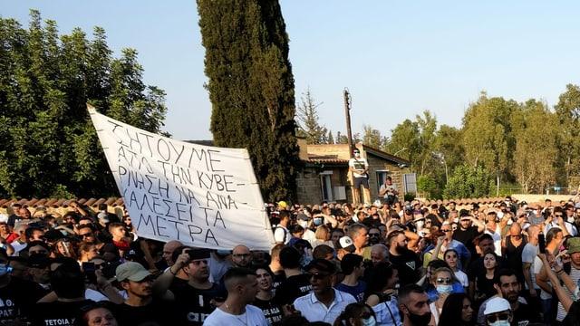 Demonstranten in Nikosia
