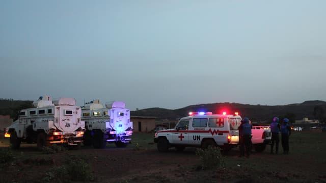 Autos da salvament èn avant il resort da vacanzas el la chapitala da Mail - Bamako.