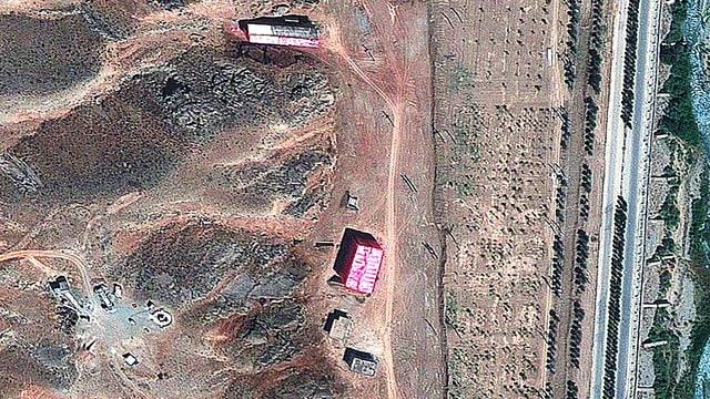 Luftaufnahme der iranischen Militäranlage Parchin.