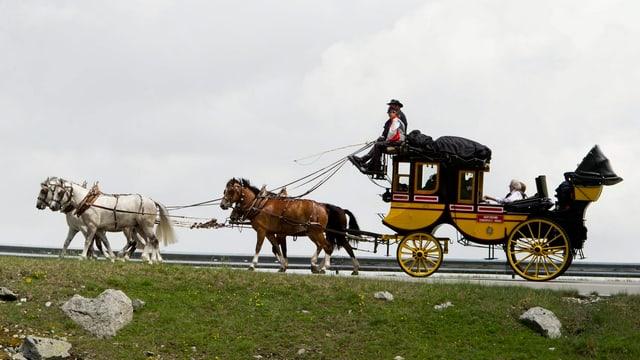 Postkutsche mit 4 Pferden