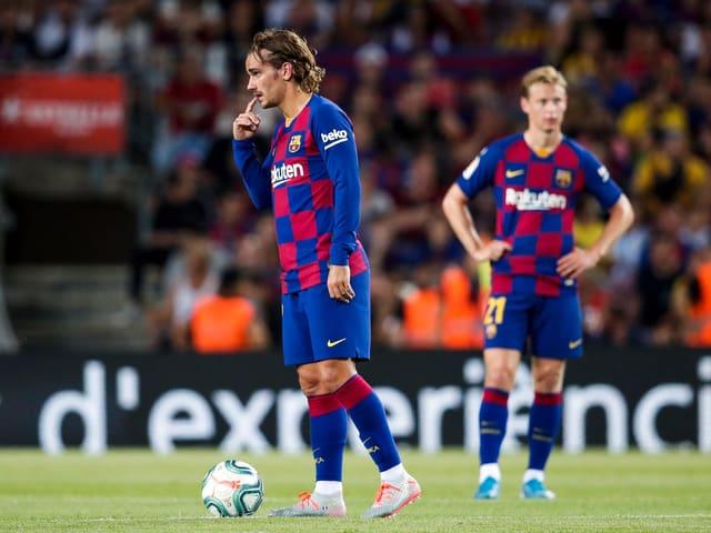 Antoine Griezmann im Barça-Shirt.