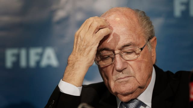 Il president da la FIFA Sepp Blatter il december 2014.