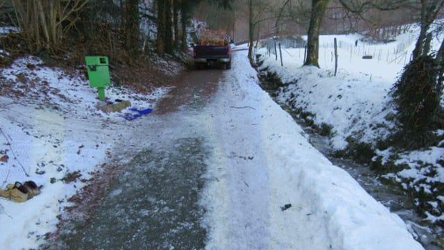 Unfallstelle in Zeiningen