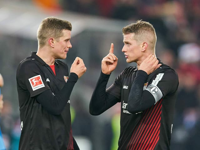 Leverkusens Zwillinge Sven (l.) und Lars Bender.