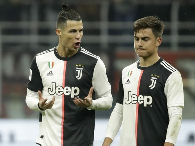 Cristiano Ronaldo (links) und Paulo Dybala bei einem Spiel von Juventus
