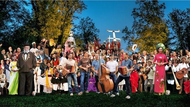 Video «Volkskulturfest «Obwald» – Ur-Klänge vor idyllischer Kulisse» abspielen