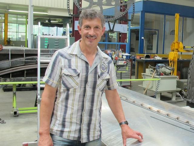 Hans Wepfer, Erfinder der neuen Windturbine.