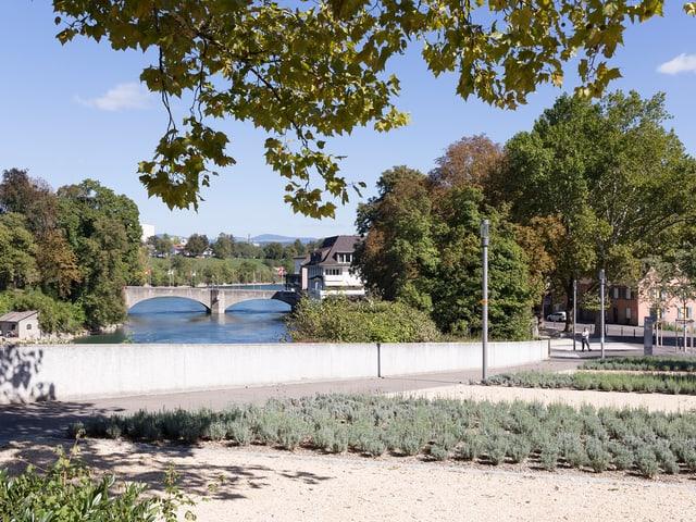 Blick auf die geschaffene Grünzone innerhalb der westlichen Vorstadt.