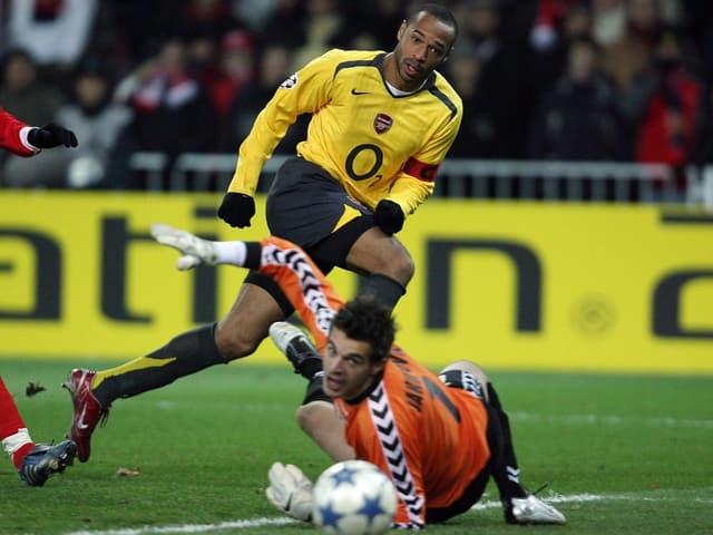 Thierry Henry gegen Thun im Jahr 2005.