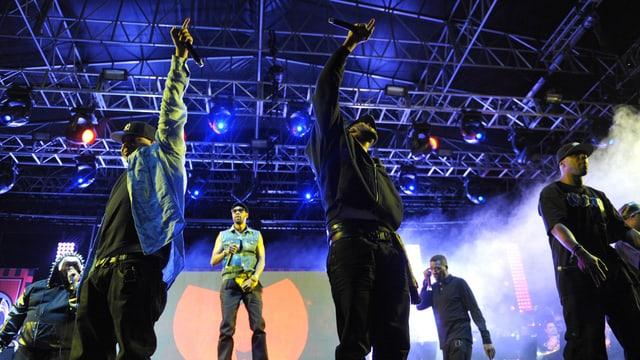 Sieben Mitglieder des Wu-Tang Clans Coachella-Festival 2013.