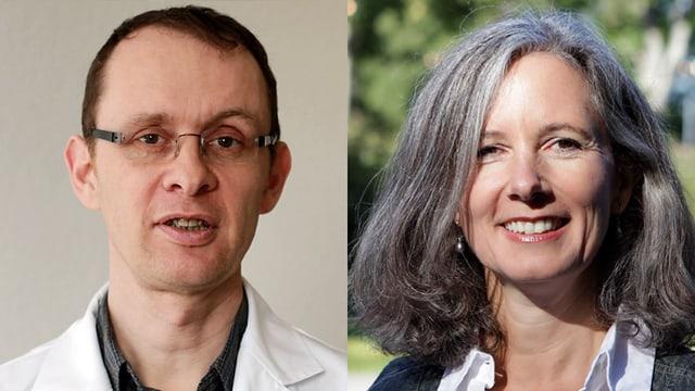 Dr. Niklaus Egloff und Psychologin Jeannine Born