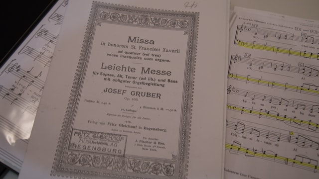 La partitura da la messa da Josef Gruber
