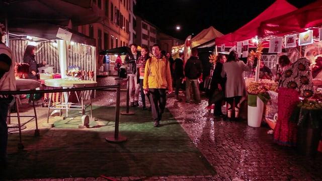 Litt unter dem starken Regen: Der Markt des neuen Festivals in Winterthur.