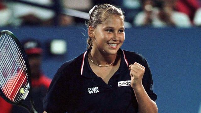 Anna Kournikowa stürmte als 15-Jährige in den US-Open-Achtelfinal.