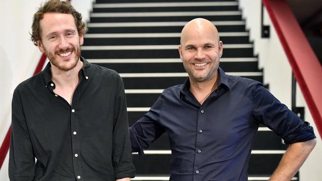 Benjamin von Blomberg, links, und Nicolas Stemann, rechts.