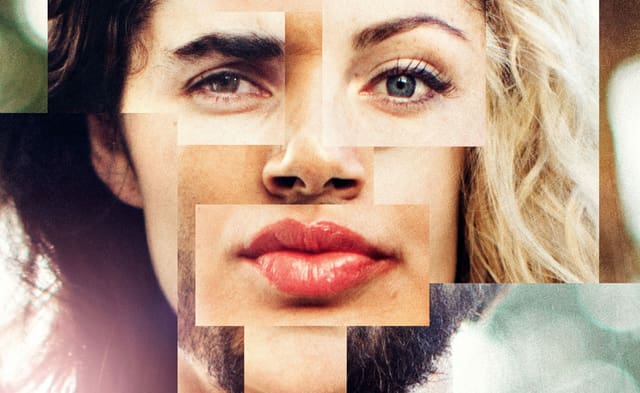 Collage: Ein Gesicht, aus mehreren Gesichtern zusammengesetzt.
