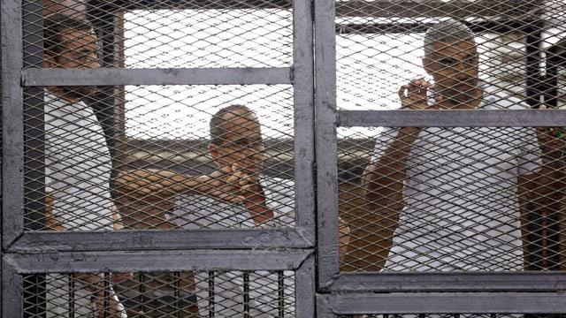 Gefangene in einer Zelle