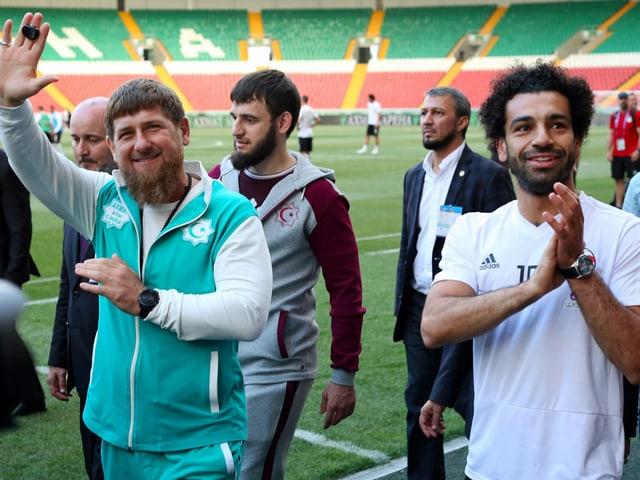Ramsan Kadyrow und Mohamed Salah.
