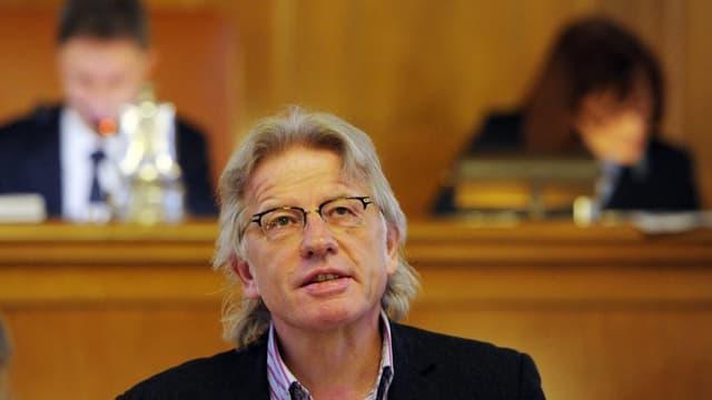 PUK-Präsident Markus Bischoff in der BVK-Debatte des Zürcher Kantonsrates
