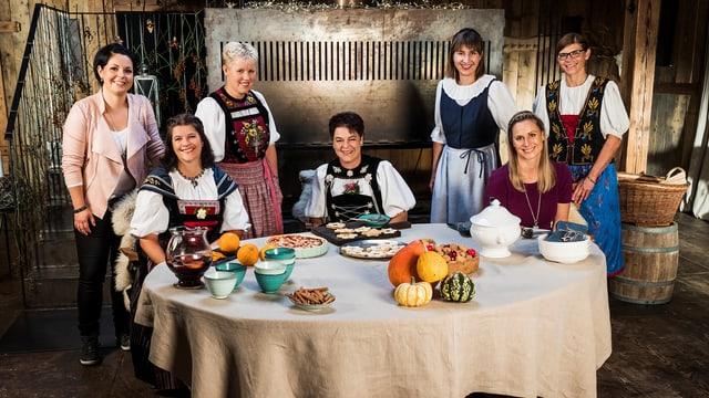 Die sieben Teilnehmerinnen der zwölften Staffel der «Landfrauenküche».