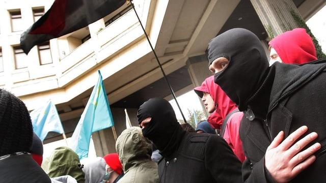 Demonstranten in Simferopol.