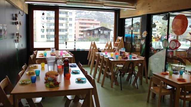 Die Kita Ringelreija in Brig-Glis mit Mittagstisch.