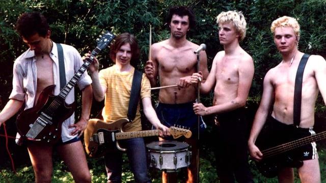 Die Hamburger Punkband Slime, 1982.