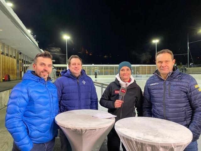 Lothar Camichel, Roberto Clavadätscher da San Murezzan, Ulrica Morell RTR e Domenic Toutsch dal CDH Engiadina