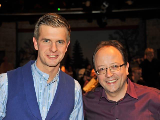 Gastgeber und Gast: Nicolas Senn und Fredy Reichmuth.