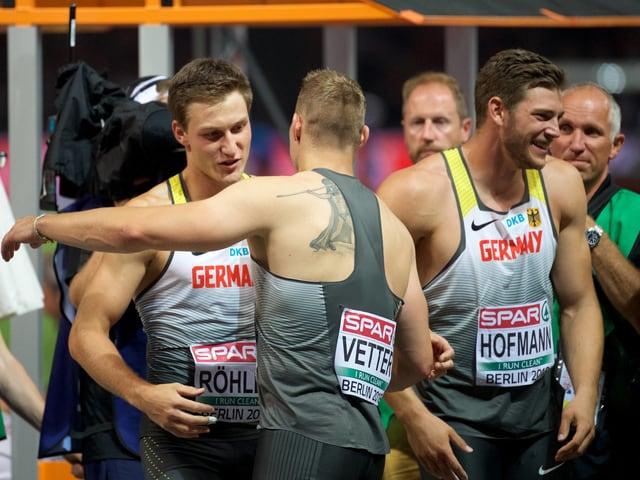 Thomas Röhler, Johannes Vetter und Andreas Hofmann