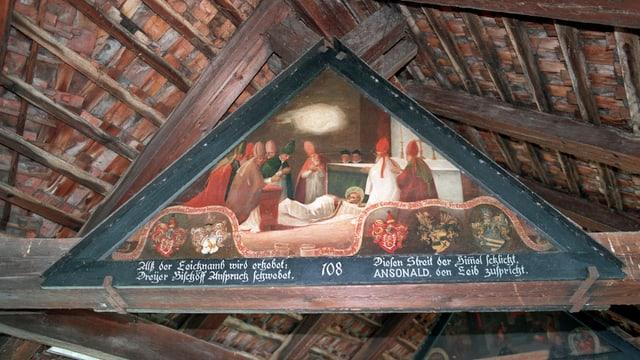 Eines der Giebelbilder auf der Luzerner Kapellbrücke.