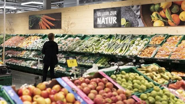 Gemüseauswahl Detailhandel