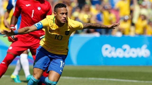 il giugader da ballape Neymar