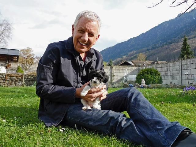 Röbi Koller und Hund