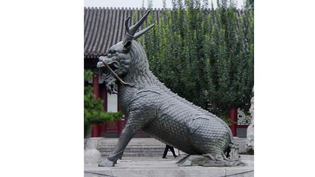 Ein Qing-zeitliches Qilin, wie er im Sommerpalast in Beijing steht.
