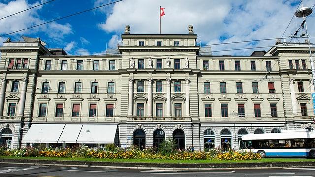 Das Gebäude des Bundesgerichts in Luzern von aussen.