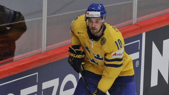 Johan Fransson im schwedischen Nationaldress.