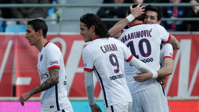 Pastore und Cavani herzen Ibrahimovic