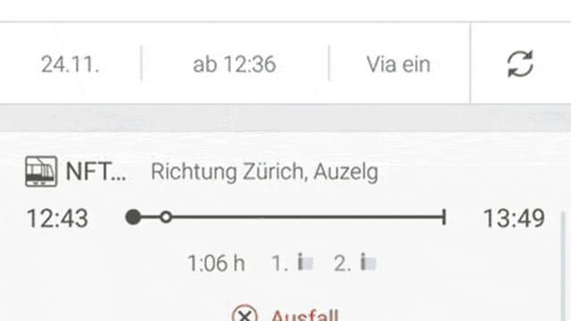"""Die neue Funktion """"Touch Fahrplan""""."""