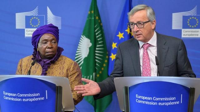 Nkosazana Dlamini-Zuma e Jean-Claude Juncker.