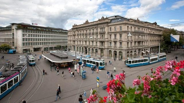 Die Banken am Paradeplatz in Zürich.