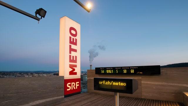 «Meteo»-Studio auf dem Dach des SRF-Studios Leutschenbach