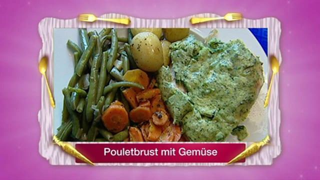 Soufflierte Pouletbrüstchen mit Gemüse