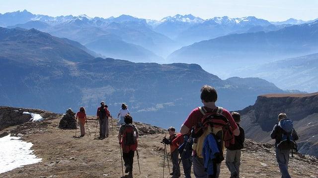 Bergwanderer im Bündnerland.
