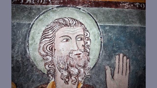 L'apostel Jacobus malegià dal Maister da Vuorz.